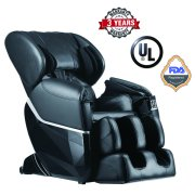 Zero Gravity Full Body Electric Shiatsu FDA Approved Massage Chair Recliner with Built-In Heat Therapy and Foot Roller Air Massage System Stretch Vibrating,Black
