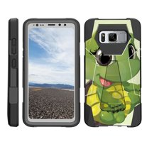 TurtleArmor ® | For Samsung Galaxy S8 Active G892 [Dynamic Shell] Dual Layer Hybrid Silicone Hard Shell Kickstand Case - Baby Turtle