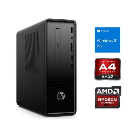 HP Slimline 290 Desktop, AMD A4-A4-9125 Upto 2.6GHz, 8GB RAM, 512GB NVMe SSD + 1TB HDD, DVDRW, HDMI, VGA, Card Reader, Wi-Fi, Bluetooth, Windows 10 Pro -  290SFFA4912-8512n1P