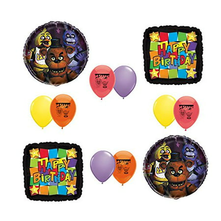 Five Nights at Freddy's FNAF Party Supplies Happy Birthday Balloon Set