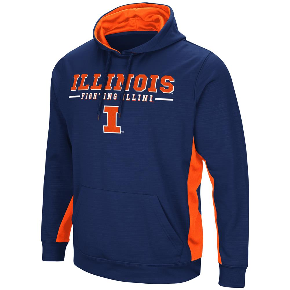 University of Illinois Hoodie Performance Fleece Pullover Jacket