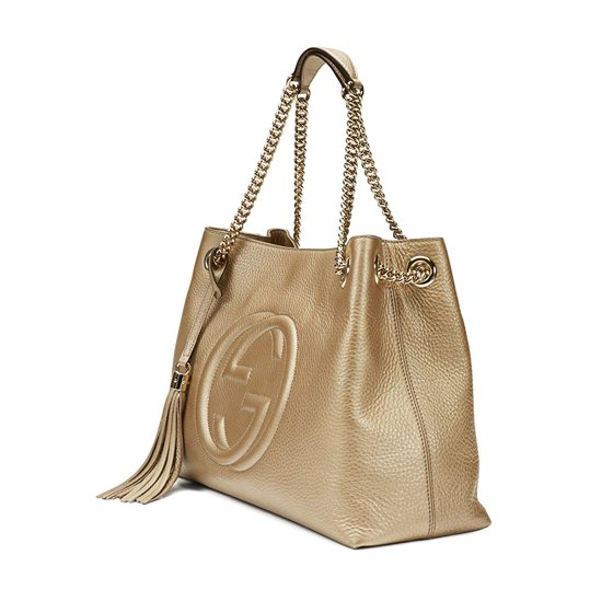 2df9df9e5 ... cotton linen lining Medium size: W38cm x H27cm x D14cm Made in Italy  Embossed interlocking G Detachable leather tassel Double chain shoulder  straps with ...