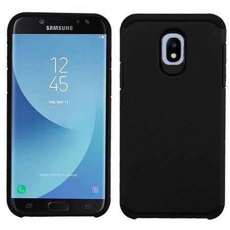 Samsung Galaxy J7 (2018), J737, J7 V 2nd Gen, J7 Refine - Phone Case Shockproof Hybrid Rubber Rugged Case Cover Slim Black
