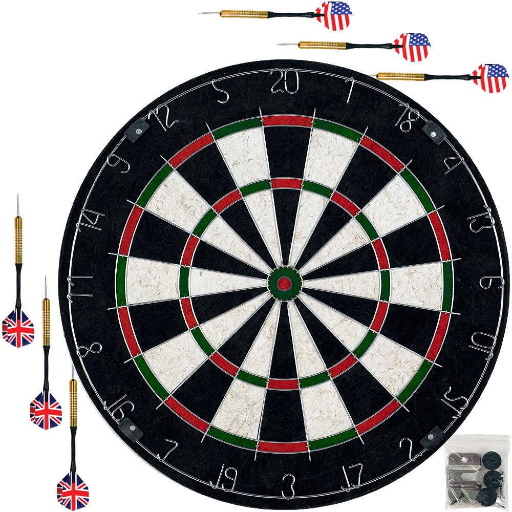 Bristle Dart Board With Metal Wire Spider Professional Regulation