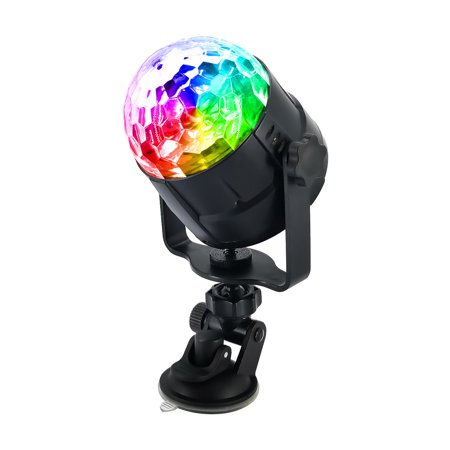 15 Colors LED USB Car DJ Disco Ball Lumiere 5W Sound Activated Projector RGBP Stage Lighting Effect Lamp Light Music Christmas KTV Party - image 7 de 7