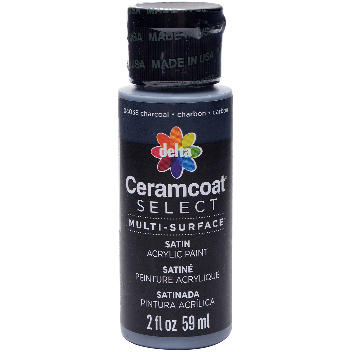 Ceramcoat Select Multi-Surface Paint 2oz-Charcoal