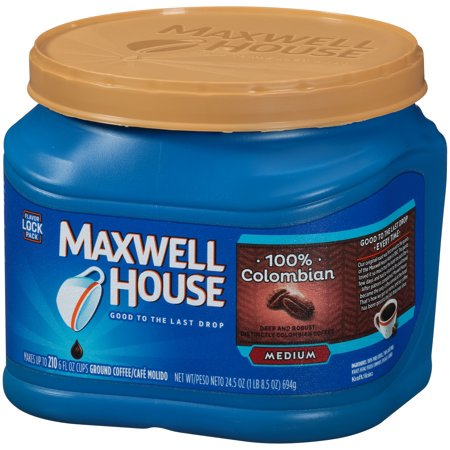 ((3 Pack) Maxwell House 100% Colombian Ground Coffee, 24.5 oz Canister)