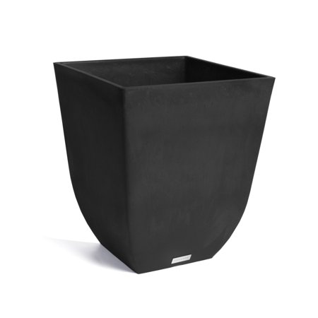 Veradek Sierra Square Planter - Black - 18