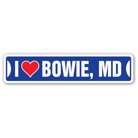 I Love Bowie  Maryland Street Sign Md City State Us Wall Road Gift