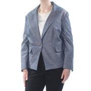 NINE WEST Womens Navy Pocketed Blazer Wear To Work Jacket Plus  Size: 20W