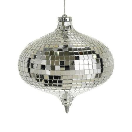 Allstate Glamorous Mirrored Glass Disco Onion-Shaped Christmas Ornament  6