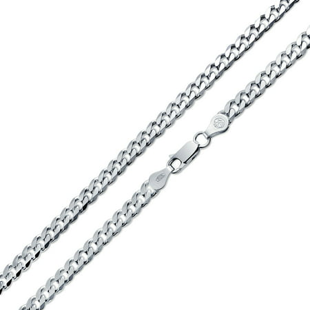 Heavy Solid Curb Cuban Link Chain 150 Gauge For Men Necklace 925 Sterling Silver Made In Italy 20 Inch - image 1 de 4
