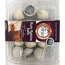 Oriel White Chocolate Covered Rum Raisin Balls 10.5oz - KFP - Pack of 3