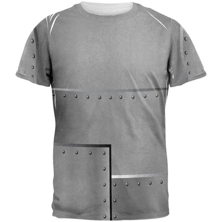 Halloween Robot Rivets Costume Steel All Over Mens T Shirt](Robot Costume Halloween)