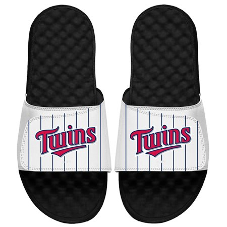 Minnesota Twins ISlide MLB Pinstripes Slide Sandals - White ()