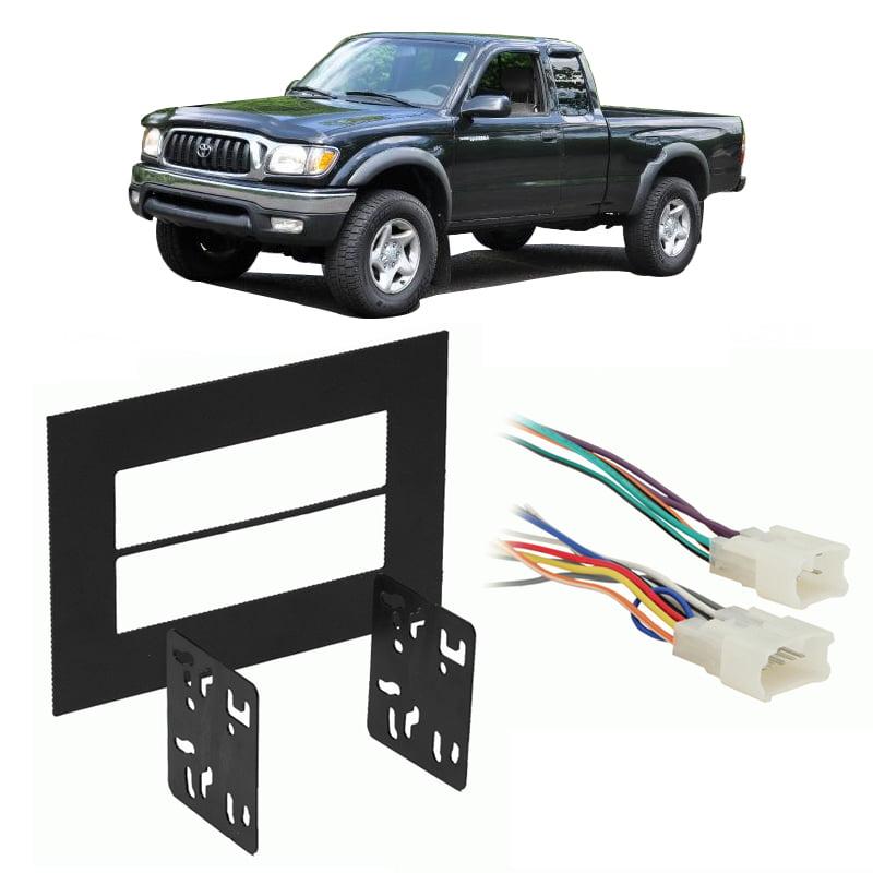 Fits Toyota Tundra 1999 2002 Double Din Stereo Harness Radio Install Dash Kit Walmart Com Walmart Com