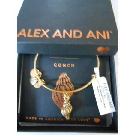 Conch Shell Charm Bangle Russian Gold, A11EB117RG Conch Shell Horn