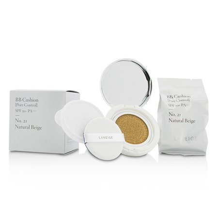 Laneige BB Cushion Pore Control Foundation SPF 50 - # 21 Natural Beige 2 x 0.5 oz Foundation &