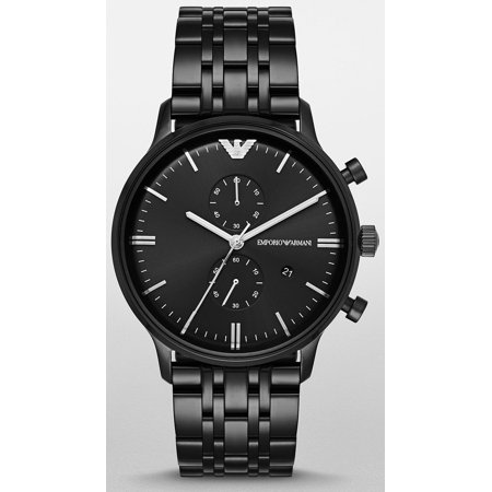 Emporio Armani AR1934 Retro Gents Black Ion Plated Chronograph Watch