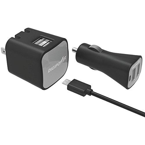 Dual USB Wall and Car ChrgrKit