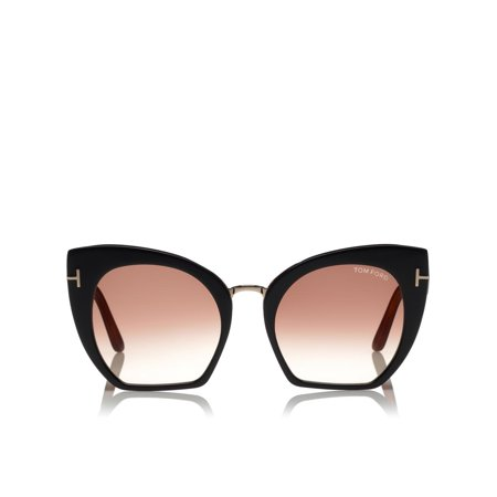 Tom Ford Women's Gradient Samantha FT0553-05U-55 Black Cat Eye (Best Sunglasses For Very Sensitive Eyes)