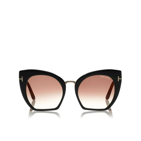 Tom Ford Women's Gradient Samantha FT0553-05U-55 Black Cat Eye Sunglasses ()