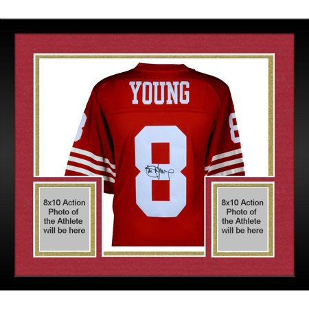online retailer 83726 6606c Framed Steve Young San Francisco 49ers Autographed Red Mitchell & Ness  Replilca Jersey - Fanatics Authentic Certified - Walmart.com