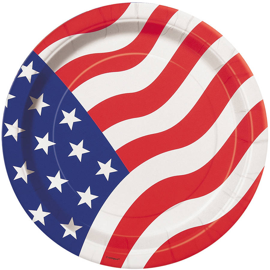 American Flag Party 9 inch Lunch/Dinner Plates  sc 1 st  Walmart & American Flag Party 9 inch Lunch/Dinner Plates - Walmart.com