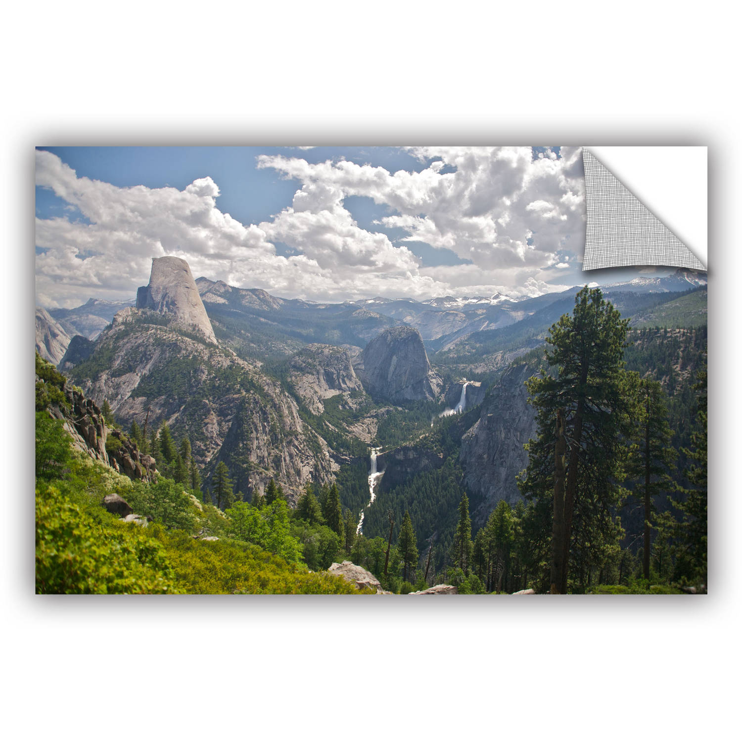 "ArtWall Dan Wilson ""Yosemite Half Dome Vernal Falls and Nevada Falls"" ArtAppealz Removable Wall Art"