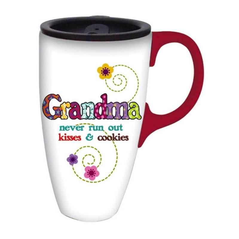 Grandma Kisses Latte Travel Mug Walmart Com