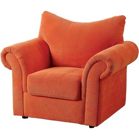 Brynn Kids Armchair in Orange Flannelette ()