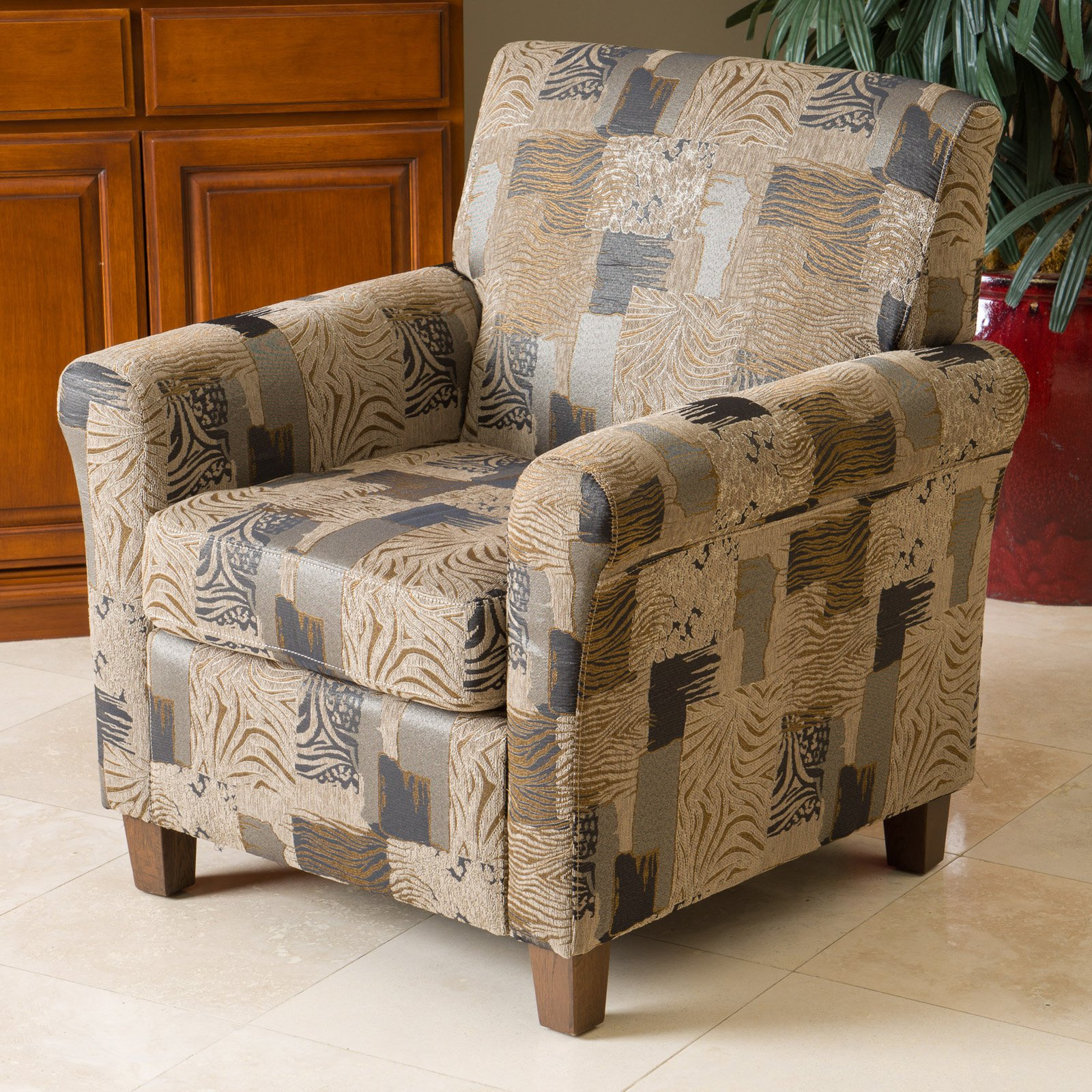 Best Selling Home Brunswick Animal Print Club Chair by Home Loft Concepts