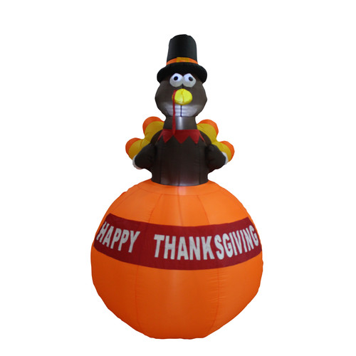 BZB Goods 6 foot tall happy thanksgiving inflatable turke...