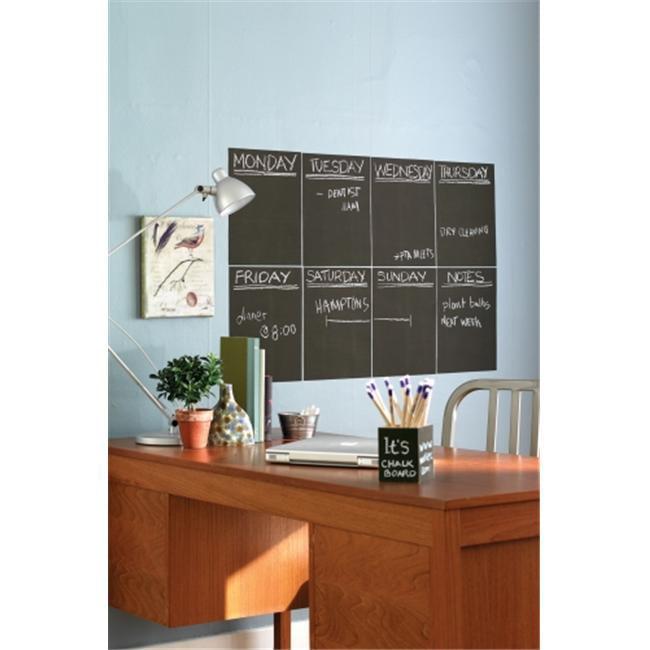 Mc Call Wallies W1600-0 Wallies Peel & Stick Chalkboard Panels 9 x 12 Inch