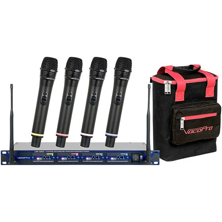 Uhf 5805 Rechargeable Wireless Microphone (VocoPro UHF-5805 Plus Rechargeable Wireless System with Mic Bag Band 10 )