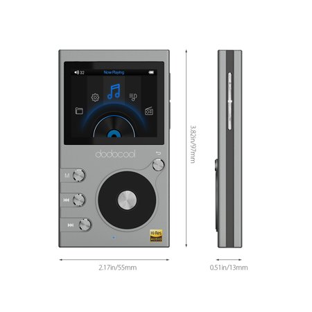 dodocool 8GB High Resolution Audio Digital Lossless Sound Hi-Fi Music Player with Voice Recorder and FM Radio 30 Hours Playback 2