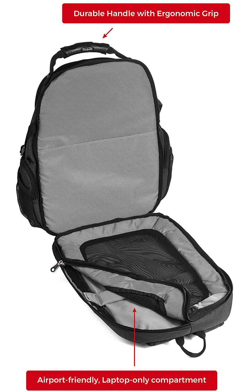 9b11e7e915fe SWISSGEAR - Backpack Laptop Travel Backpack ScanSmart (Slate Grey ...