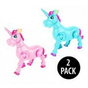 Majestic Prancing Unicorns Toy Set - Make Music, Blinking Lights, And Walks Around (2 Pack)