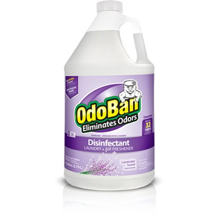 Odor Eliminator, OdoBan Concentrate Disinfectant Laundry and Air Freshener Lavender Scent, 1 Gal.