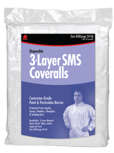 Buffalo SMS Disposable Coverall, Non-Hooded by Buffalo Industries