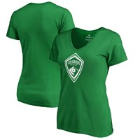 Colorado Rapids Fanatics Branded Women's St. Patrick's Day White Logo V-Neck T-Shirt - Kelly Green
