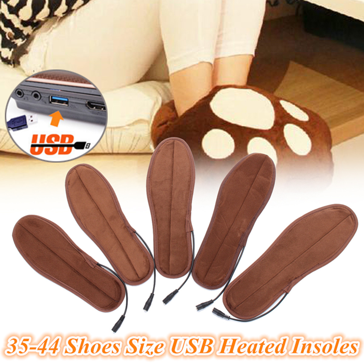 Soft Warm Sheep Fleece Wool Thermal Insoles Winter Shoes Inserts Pads Size 35-44