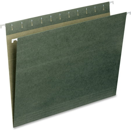 Smead Hanging File Folder, Letter Size, Standard Green, 25 per Box - Privacy Folders