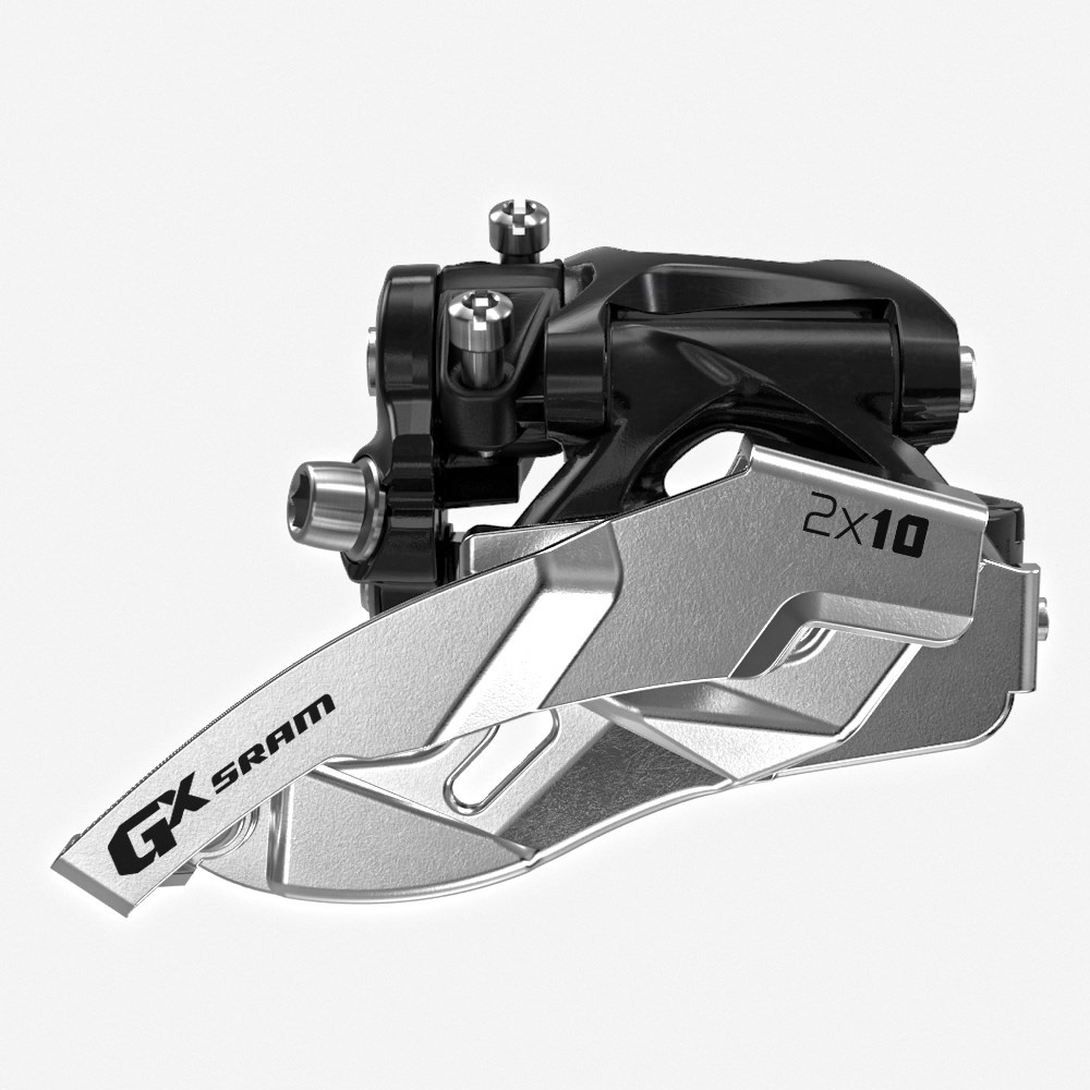 sram gx 2x10 low clamp front mountain bicycle derailleurs - 00.7618.148