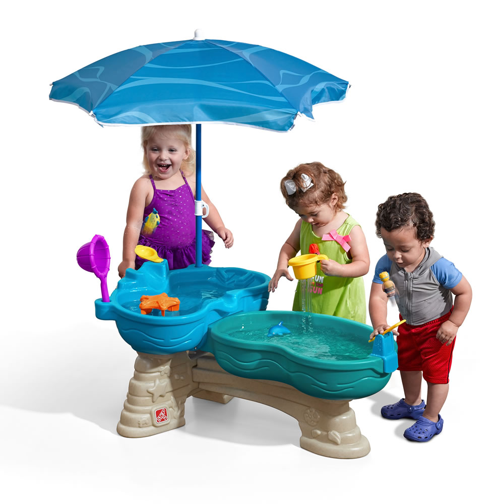 Step2 Spill & Splash Kids Indoor and Outdoor Water Toy Play Table Set