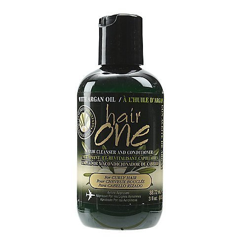 Hair One Argan Oil Hair Cleanser Conditioner For Curly Hair 3 oz. (Pack of 4)