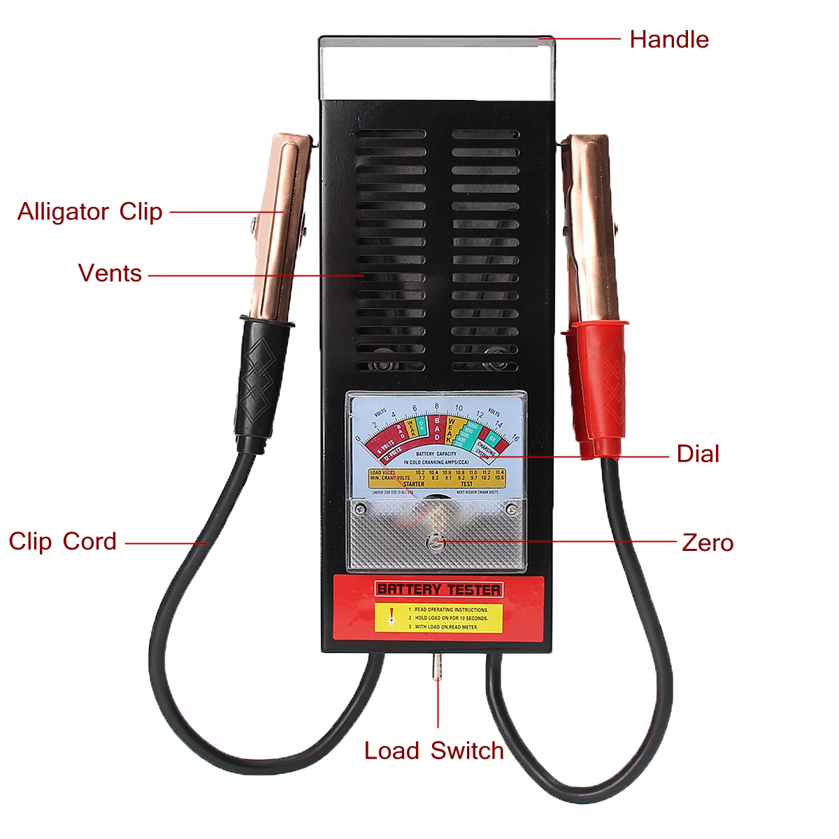 Lightweight 6 12v Car Battery Tester Test Gt Automotive Electrical Testers Continuity 6v Meter Export Style Model Bt 005 Specification 100a Type Pointer