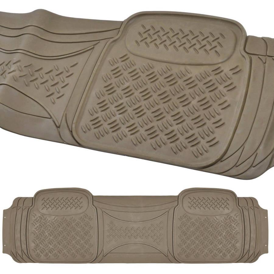 Rubber floor mats suv - Bdk Heavy Duty Ridged Rubber Floor Mat 1 Piece Runner Liner For Car Suv Van And Truck Walmart Com