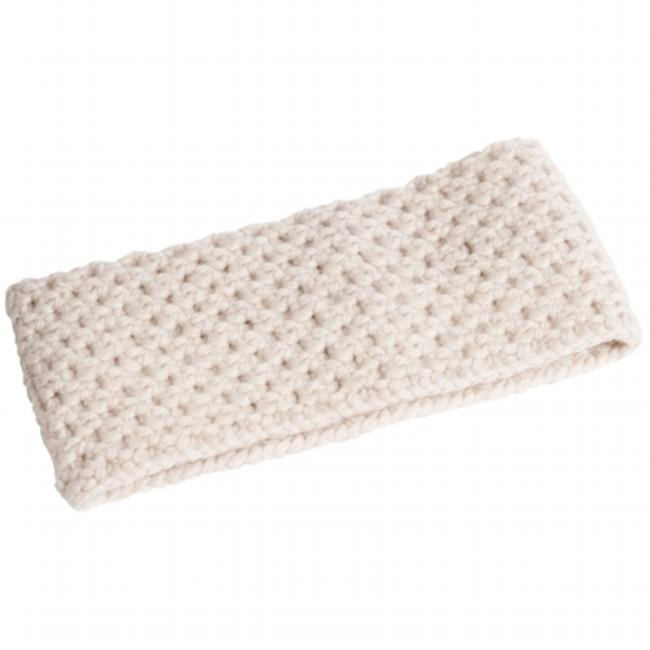 Nirvanna Designs HB10 - WHITE- A04 Merino lattice knit headband
