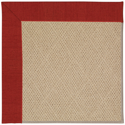 CAPEL Rugs Zoe Machine Tufted Tomatoes and Beige Indoor/O...